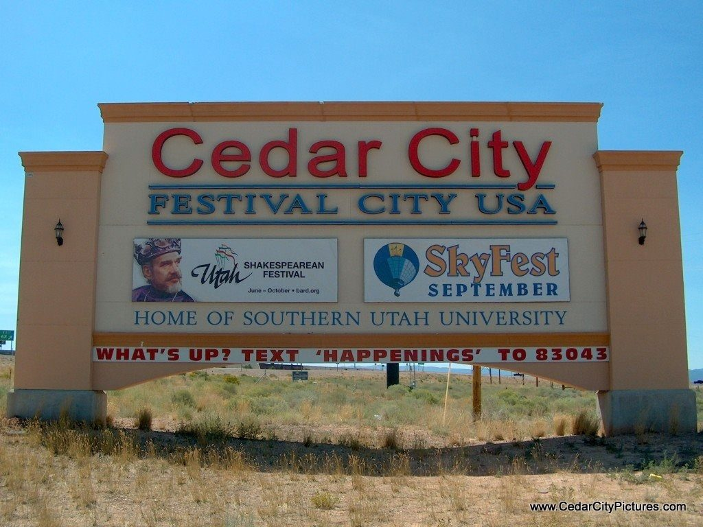 Cedar City Sign - Festival City USA